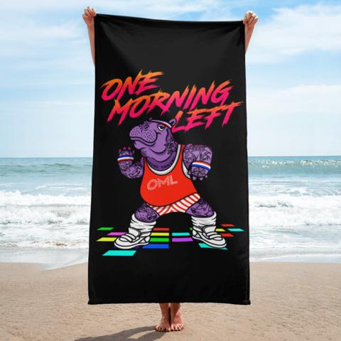 One Morning Left - Hippo Zumba - Beach Towel