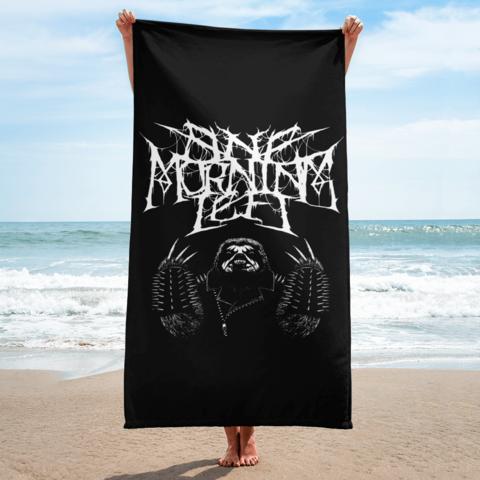 One Morning Left - Black Metal Sloth - Beach Towel