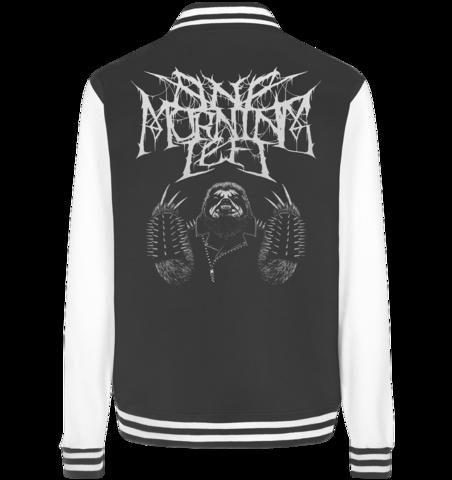 One Morning Left - Black Metal Sloth - Baseball College jacket
