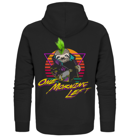 One Morning Left - Cyber Sloth - Zipper Hoodie