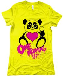 One Morning Left - Panda - T-Shirt