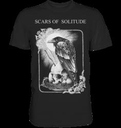 Scars of Solitude - Crow - T-Paita