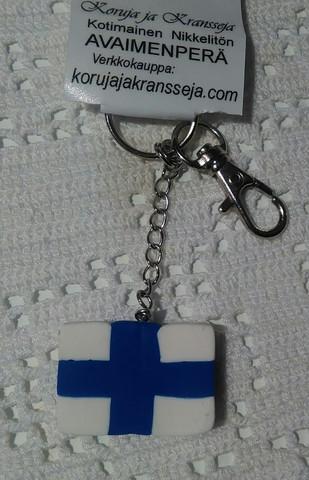 Suomen lippu avaimenperä