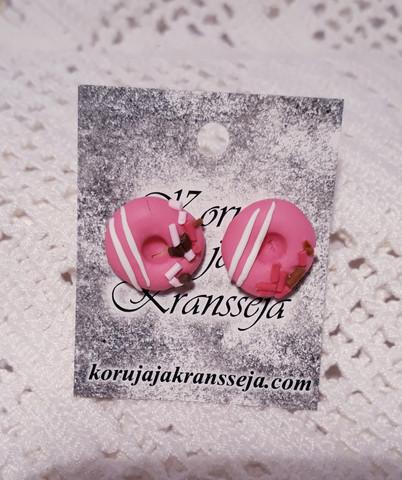 Pinkki donitsikorvakoru nappimalli