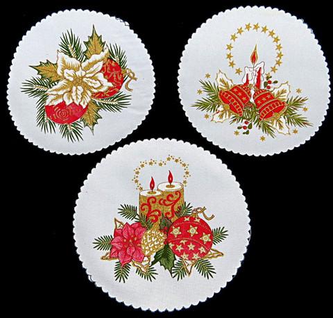 Joululiina pyöreä 20cm 10 kpl 0,38€ kpl