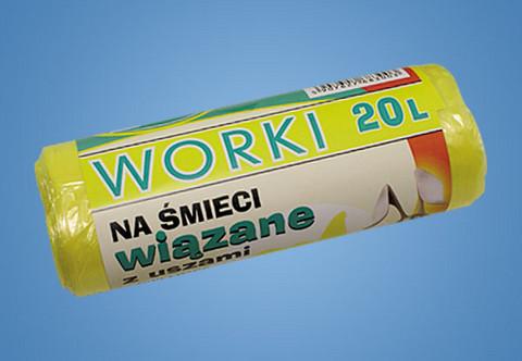 Roskapussi värillinen 20L/30 kpl/rulla 20 rullaa 0,65€ rulla.