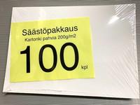 Kartonkia säästöpakkaus 100 kpl