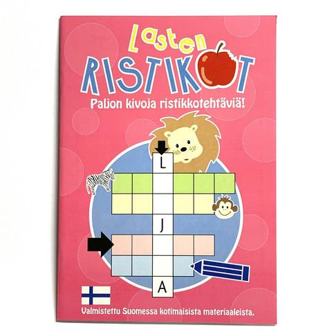 Lasten ristikko tehtäväkirja Leijona 10 kpl 0,75€ kpl (ovh hinta 2,90€)