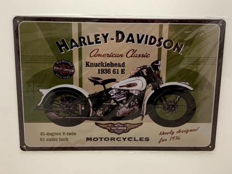 Nostalgisia Harley Davidson peltikylttejä 20 kpl 2,50€ kpl