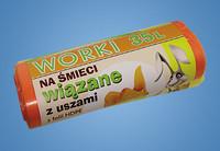 Roskapussi värillinen 35L 20 kpl/rulla 11 rullaa 0,69€ rulla.