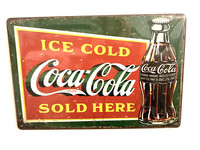 Nostalgisia  Coca-Cola peltikylttejä 5 kpl 2,50€ kpl