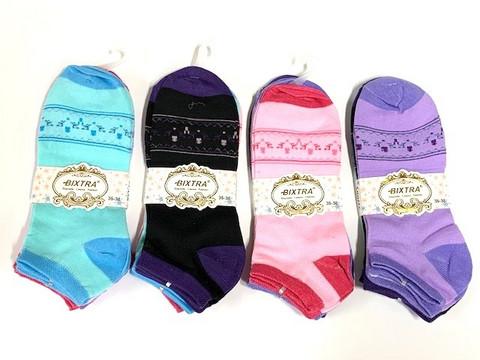 Naisten matalavarsi sukka puuvilla 36 paria 0,45€ pari