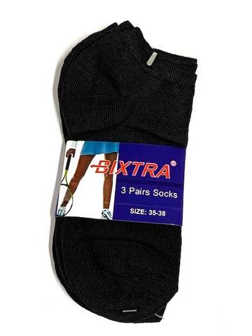 Naisten matalavarsi musta sukka 12 paria 0,39€ pari