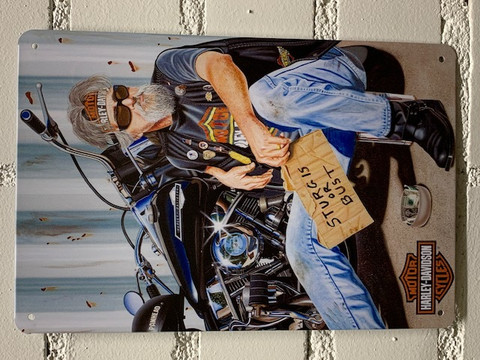 Nostalgisia  Harley Davidson peltikylttejä 25 kpl 2,50€ kpl