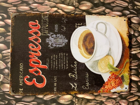 Nostalgisia Kahvi kylttejä 39 kpl 2,50€ kpl