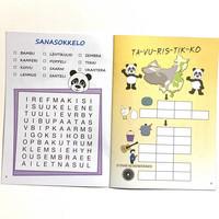 Ristikko tehtäväkirja Panda 10 kpl 0,75€ kpl (ovh hinta 2,90€)