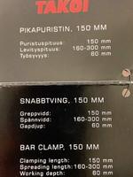 Takoi pikapuristin 150mm 5 kpl 1,80€ kpl