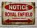 Nostalgisia  Royal Enfield Moottoripyörien peltikylttejä 17 kpl 2,50€ kpl