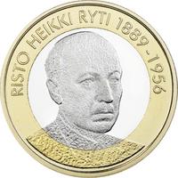 Suomi 5 € 2017 Suomen Presidentit - Risto Ryti UNC