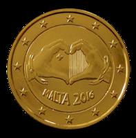 Malta 2 € 2016 Rakkaus kullattu