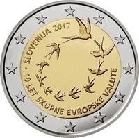 Slovenia 2 € 2017 Euron käyttöönotosta 10 v.