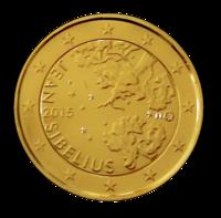 Suomi 2 € 2015 Jean Sibelius kullattu