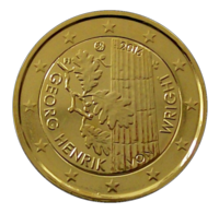 Suomi 2 € 2016 Georg Henrik von Wright kullattu