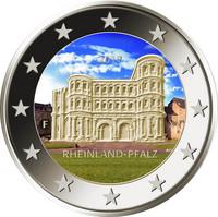 Saksa 2 € 2017 Rheinland-Pfalz väritetty