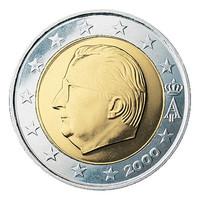 Belgia 2 € 2000 Albert II & monogrammi UNC