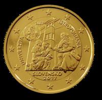 Slovakia 2 € 2017 Universitas Istropolitana kullattu