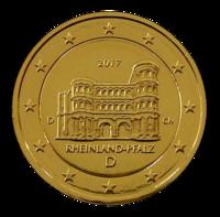 Saksa 2 € 2017 Rheinland-Pfalz kullattu