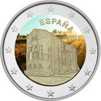 Espanja 2 € 2017 Santa María del Noronco väritetty