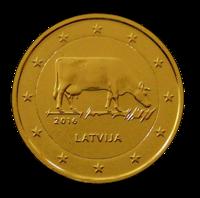 Latvia 2 € 2016 Maatalousala kullattu