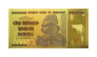 Zimbabwe 100 000 000 000 000 $ 2008 24k kultaus