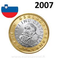 Slovenia 1 € 2007 Primož Trubar UNC