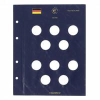 Leuchtturm Vista- säilytyslehti 5 euron juhlarahoille (myös Suomi)