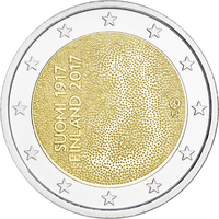 Suomi 2 € 2017 Itsenäinen Suomi 100 vuotta