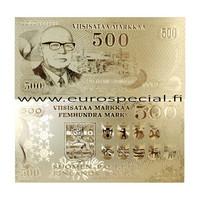 Suomi 500 markkaa 1975 Kekkonen 24k kultaus