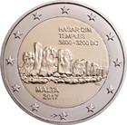 Malta 2 € 2017 Hagar Qim F- merkinnällä BU
