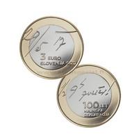 Slovenia 3 € 2017 100 vuotta toukokuun julistuksesta