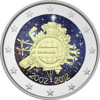 Suomi 2 € 2012 Euro 10 vuotta väritetty