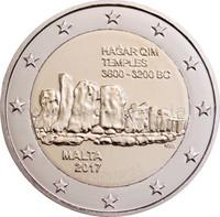 Malta 2 € 2017 Hagar Qim UNC