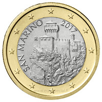 San Marino 1 € 2017 La Césta UNC