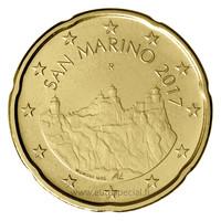 San Marino 20s 2017 Monte Titano UNC