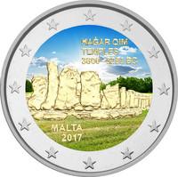 Malta 2 € 2017 Hagar Qim väritetty