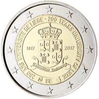 Belgia 2 € 2017 Liégen yliopisto 200 v.  BU
