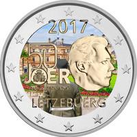 Luxemburg 2 € 2017 Vapaaehtoinen asepalvelus 50 v. väritetty
