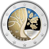 Viro 2 € 2017 Viron itsenäisyysjulistus 100 v. väritetty