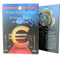 Belgia 2 € 2012 Euro 10 vuotta coincard