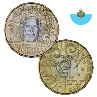 San Marino 5 € 2017 Marco Simoncelli